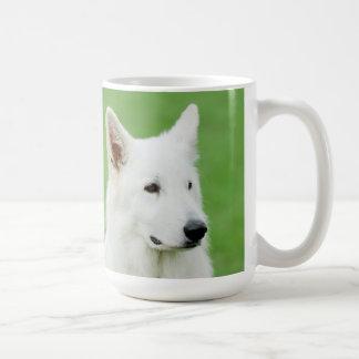 White Shepherd dog mug