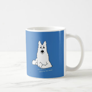 White Shepherd lying Coffee Mug