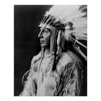 White Shield - Arikara Native American Indian Poster