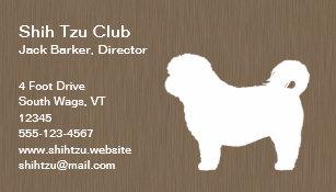 Shih Tzu Business Cards Zazzle Uk