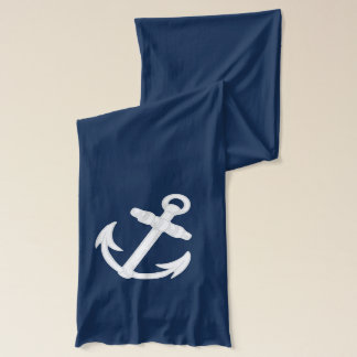 White Ship Anchor Scarf