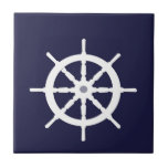White ship's wheel.