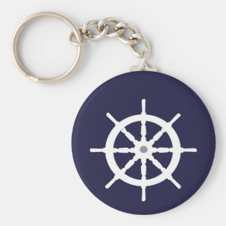 White ship's wheel. keychains
