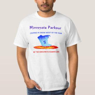 White Shirt, Minnesota Parkour T-Shirt