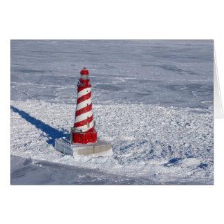 White Shoal Lighthouse Card