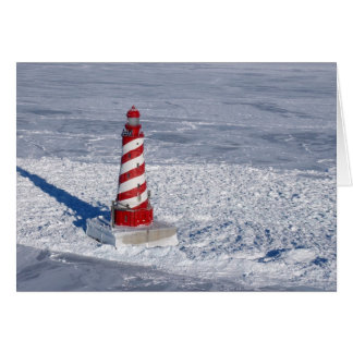 White Shoal Lighthouse Greeting Card