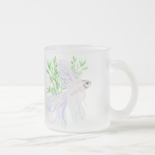 White Siamese Fighting Fish Mugs