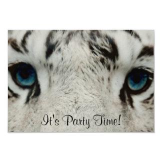 White Siberian Tiger 9 Cm X 13 Cm Invitation Card