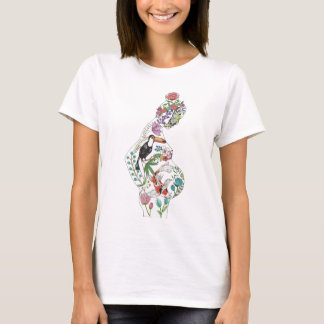 White Silhouette  (Front Design) T-Shirt