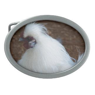White Silkie Chicken Belt Buckle