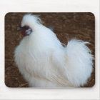 White Silkie Chicken Mouse Mat