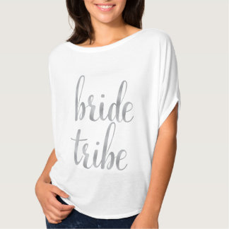 White & Silver bride tribe shirt