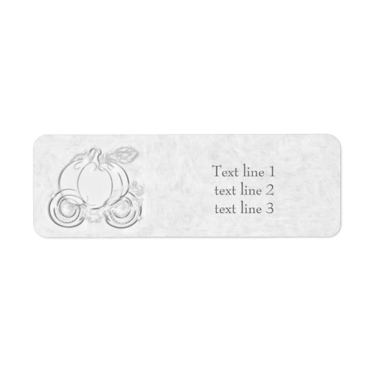 White & Silver Cinderella Carriage Address Labels