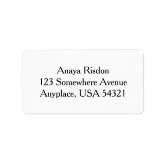 White Simple Plain Address Labels