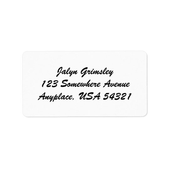 White Simple Plain Cursive Address Labels