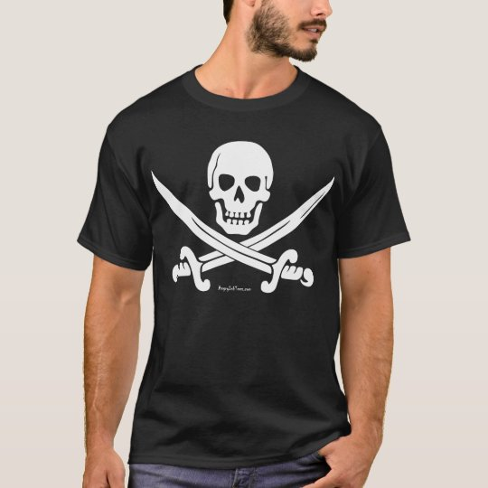 White Skull and Crossed Swords T-shirt
