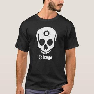 white skull cog T-Shirt