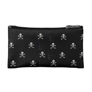 White Skull & Cross Bones Cosmetic Bag
