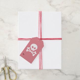white skull gift tags