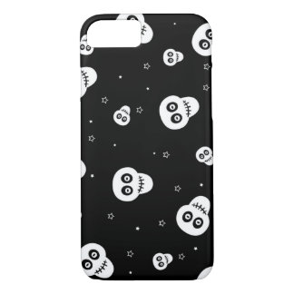white skull head with stars iPhone 7 case
