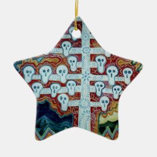 White Skull Tree Christmas Ornament