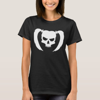 White Skull with pigtails T-Shirt