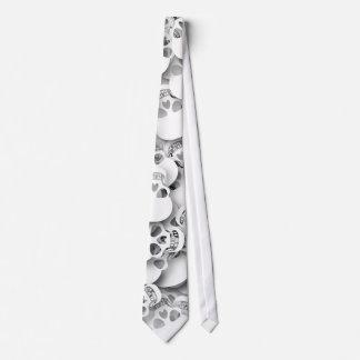 White Skulls Tie