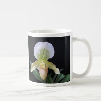 White Slipper Orchid Mug