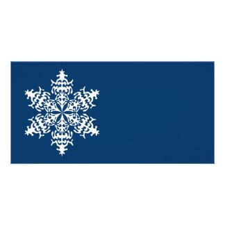 White Slowflakes Ice Crystals Photo Cards