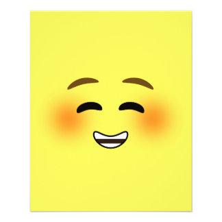 White Smiling Emoji 11.5 Cm X 14 Cm Flyer