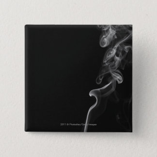 White Smoke Against A Black Background 15 Cm Square Badge