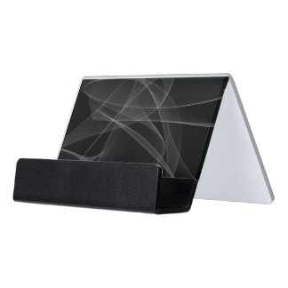 White Smoke Desk Business Card Holder
