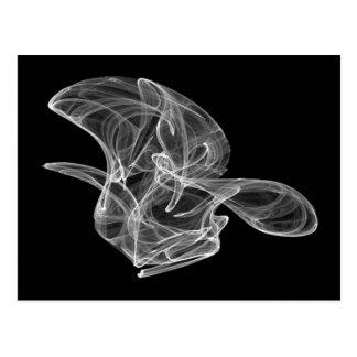 White Smoke Fractal Postcard