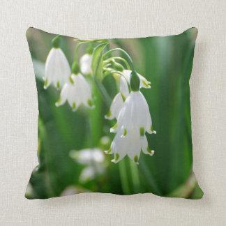 White Snow Drop Lilies Cushion