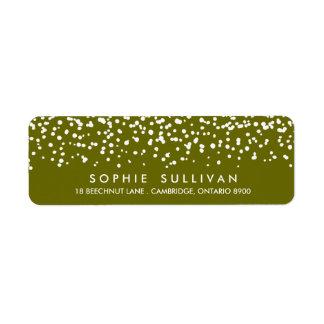 White Snow | Green Holiday Address Label