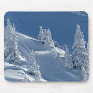 White snow landscape mouse mat