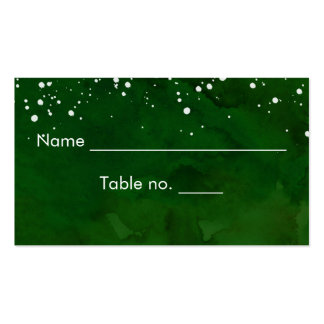 White Snow on Green Winter Wedding Pack Of Standard Business Cards
