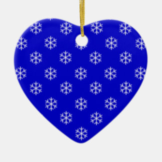 White Snowflake Ceramic Tree Decoration Ceramic Heart Decoration