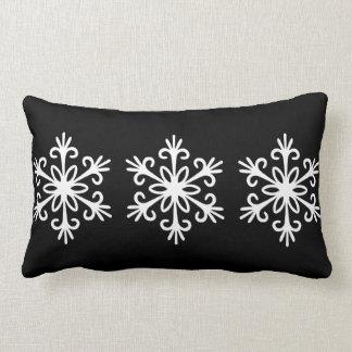 WHITE SNOWFLAKE. CUSTOMIZABLE BACKGROUND COLOUR. LUMBAR CUSHION