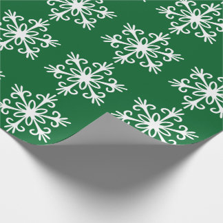 WHITE SNOWFLAKE. CUSTOMIZABLE BACKGROUND COLOUR. WRAPPING PAPER