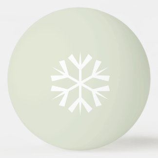 White Snowflake Design on Glow-in-the-Dark