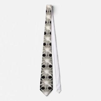 White snowflake elegant Christmas decorations Tie