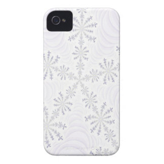 White Snowflake Fractal iPhone 4 Case