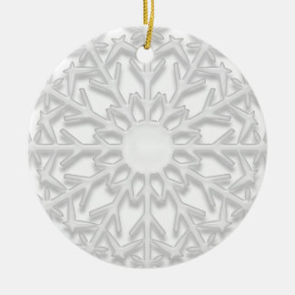 White Snowflake Will You Be My Bridesmaid Round Ceramic Decoration