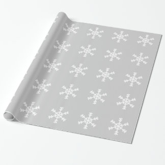 White Snowflake Wrapping Paper