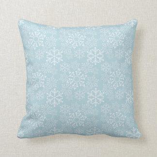 White Snowflakes Cushion