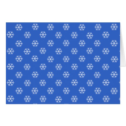 White Snowflakes Holiday Card