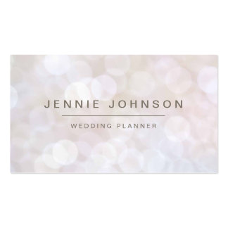 White Soft Glitter Bokeh Business Card