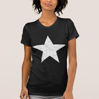 White Solid Star Tee Shirt