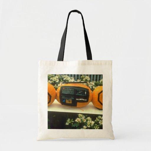 white Sony Pumpkin flowers Canvas Bags